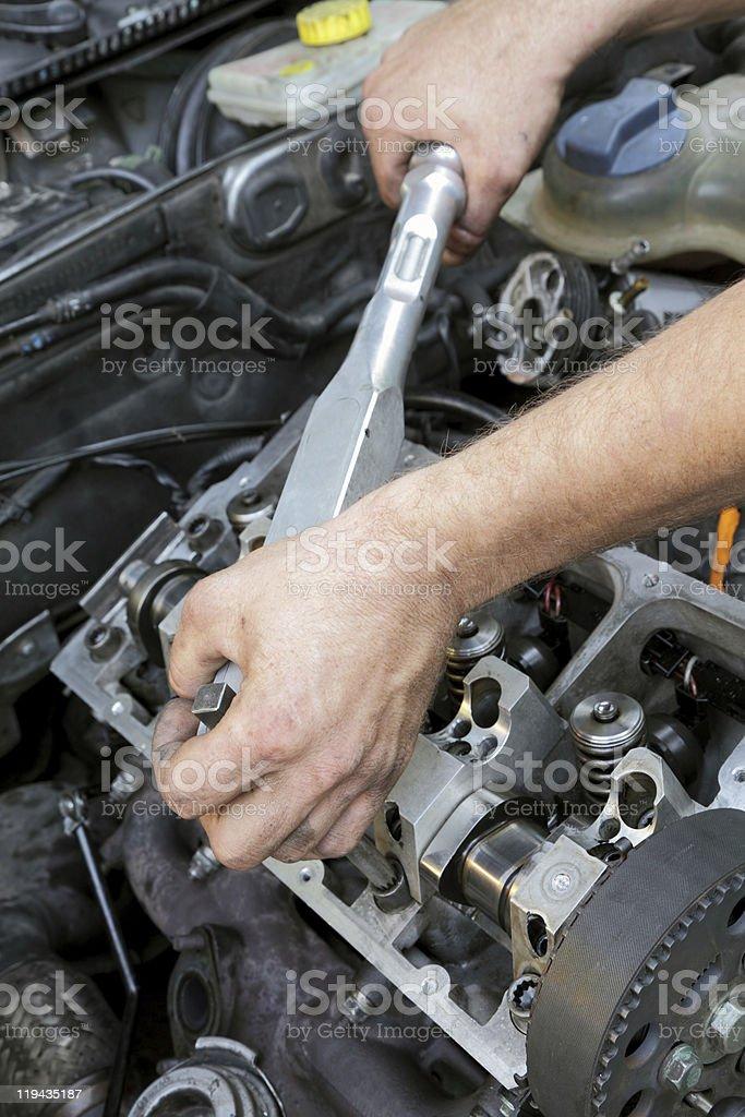 Engine repairing royalty-free stock photo