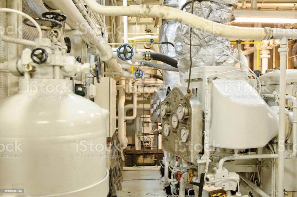 Engine room royalty-free stock photo