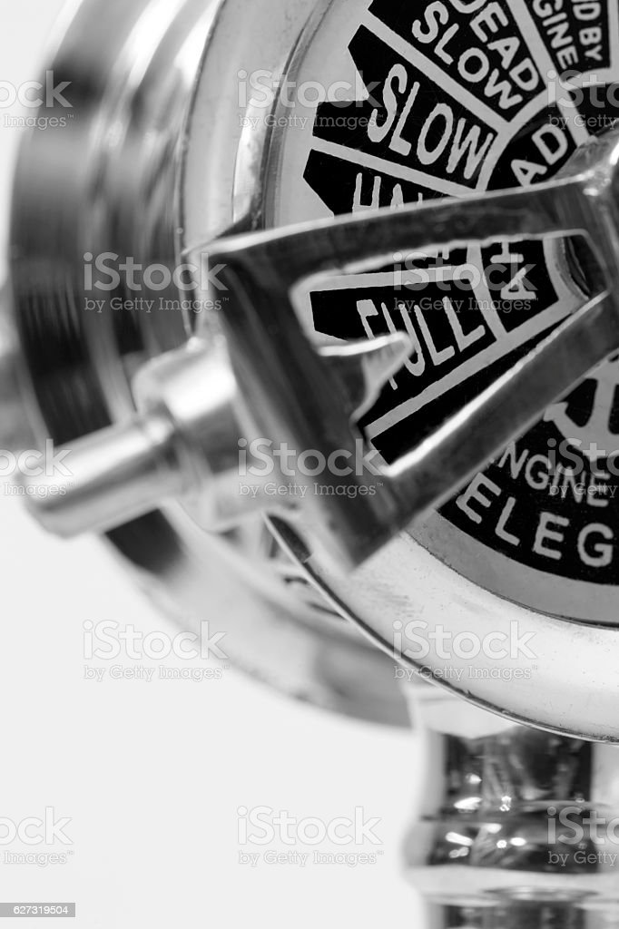 Engine room telegraph stock photo