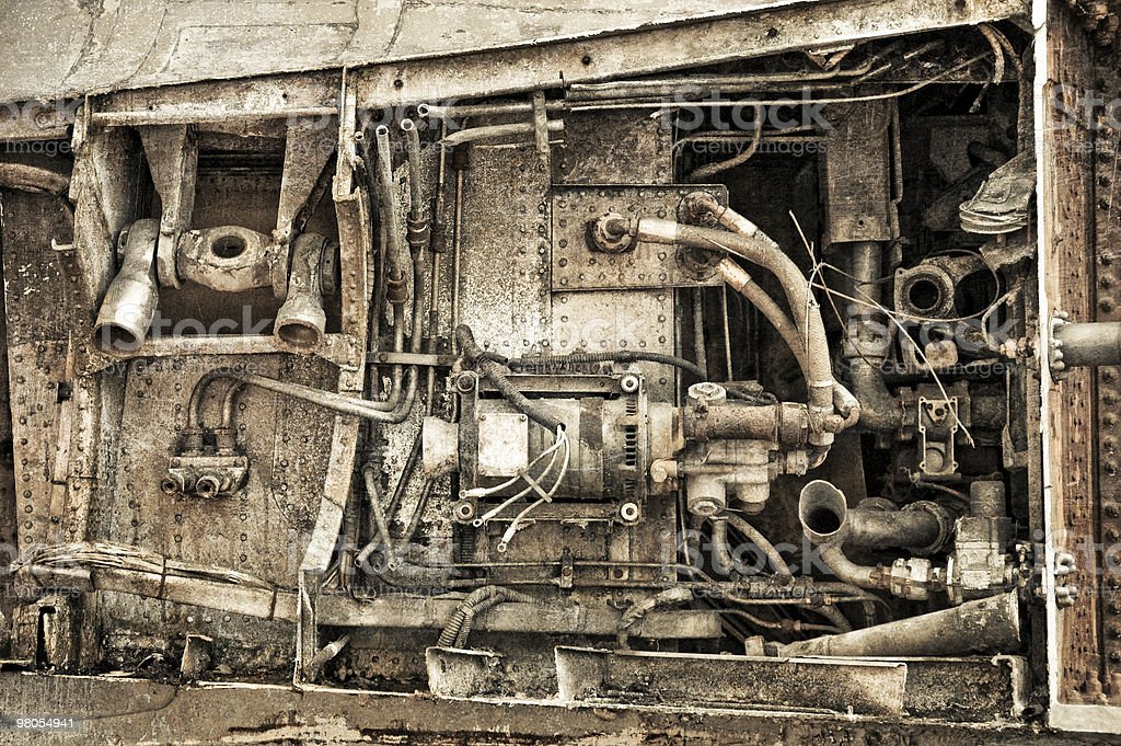 engine rust royalty-free stock photo