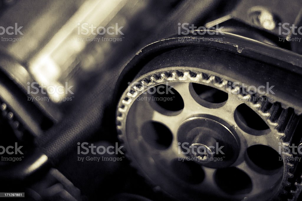 Engine timing mechanism royalty-free stock photo