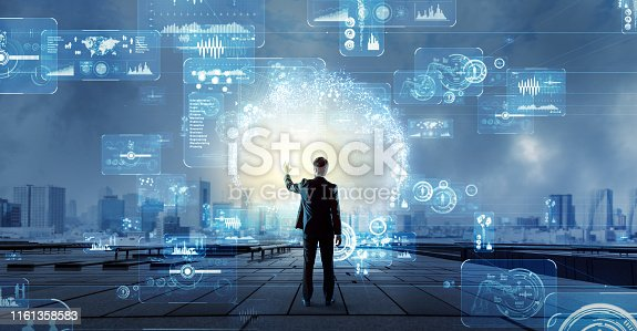 istock Engineer and communication network concept. 1161358583