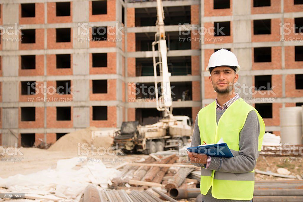 engineer and construction stock photo