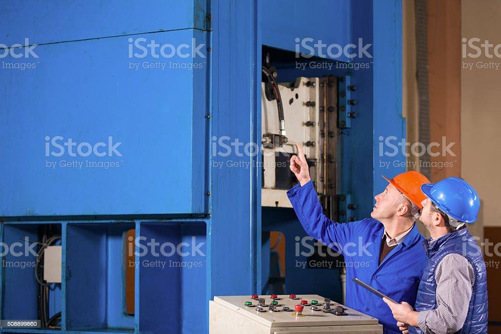 Engineer and Foreman stock photo