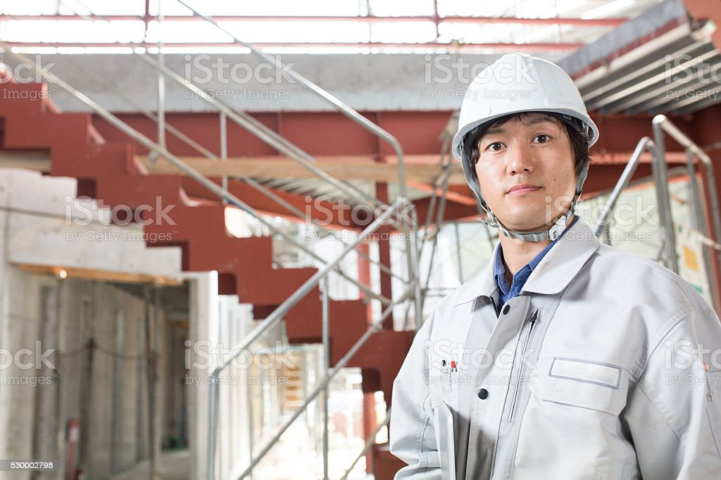 Engineer at a construction project