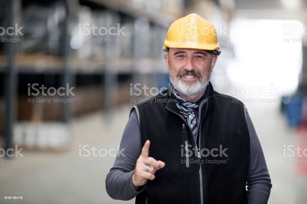 Engineer At Factory stock photo