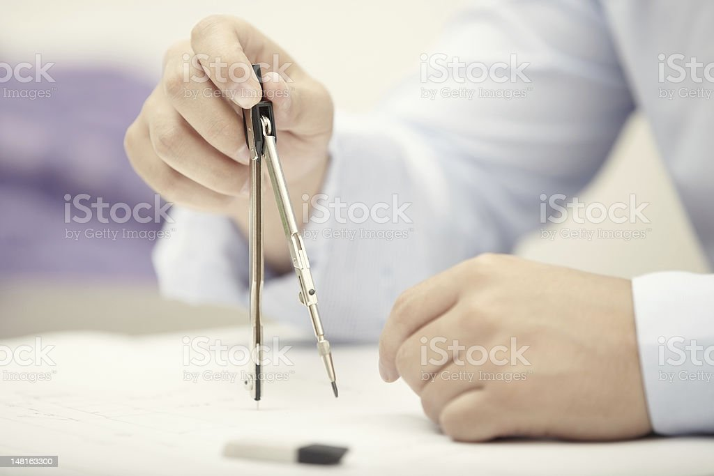 Engineer at office royalty-free stock photo