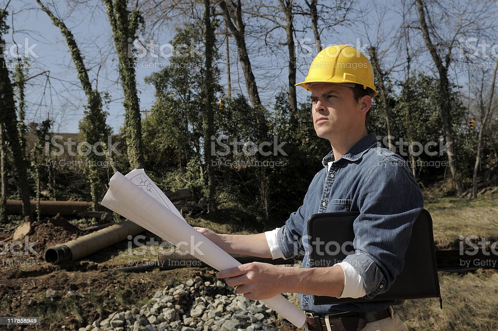 Engineer At Site royalty-free stock photo