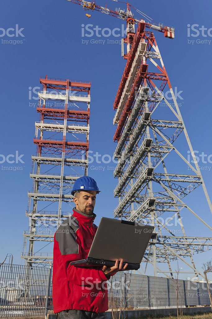 Engineer at Work in a Construction Site royalty-free stock photo