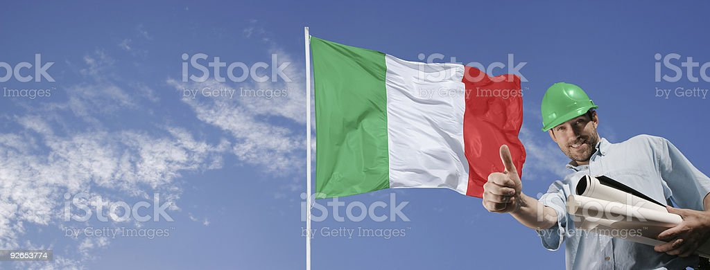 Engineer building Italy royalty-free stock photo