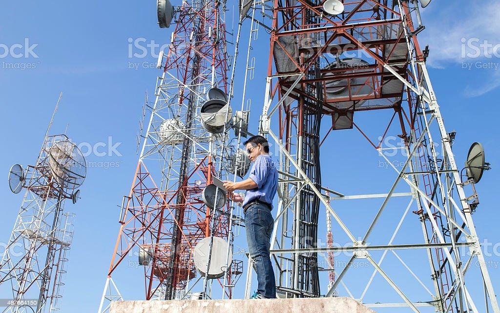 engineer communications check Antennaengineer communications check...