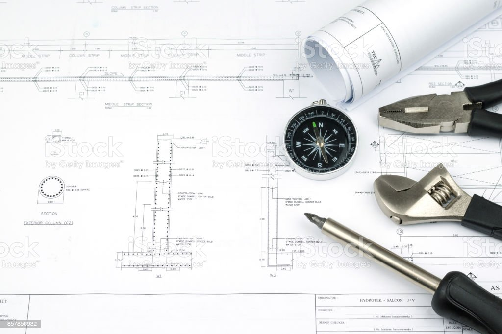Engineer construction business work concept engineering blueprint engineer construction business work concept engineering blueprint diagrams paper drafting and industrial equipment royalty malvernweather Image collections