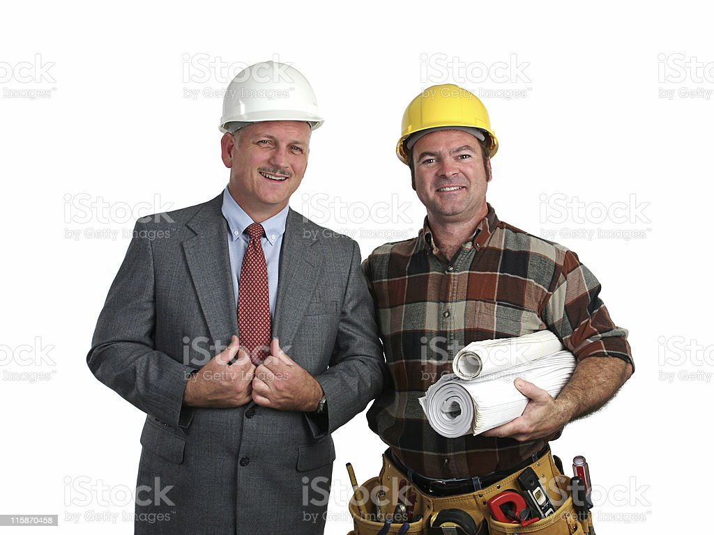 Engineer & Contractor royalty-free stock photo
