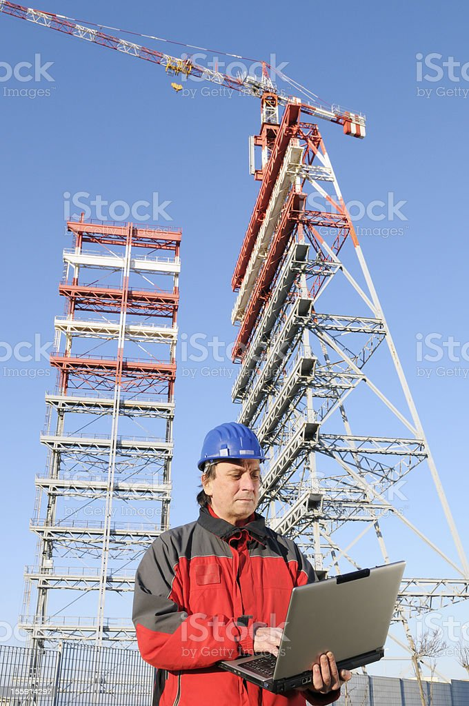 Engineer in a Construction Site royalty-free stock photo
