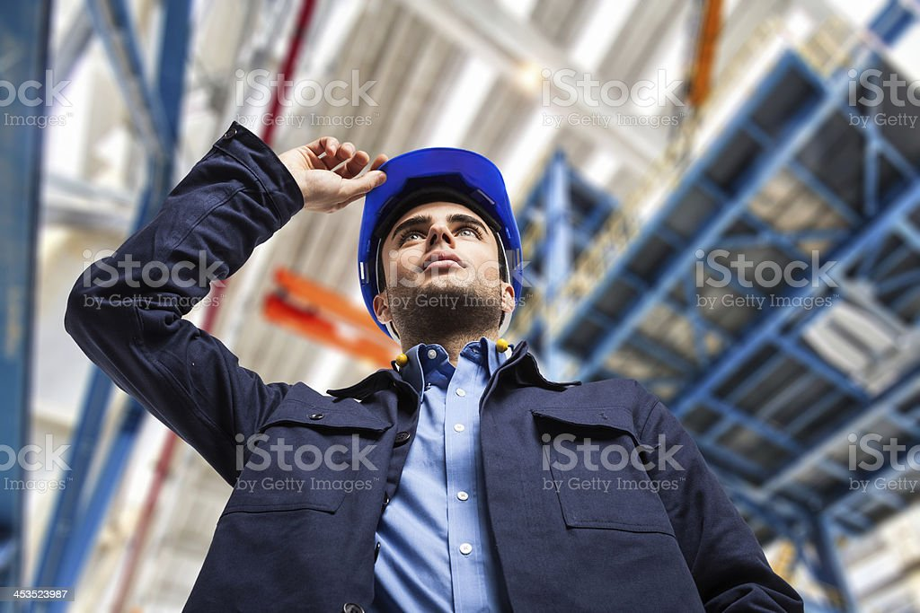 Engineer in a factory royalty-free stock photo