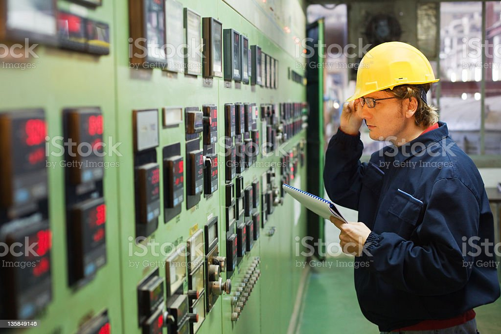 Engineer in control room royalty-free stock photo