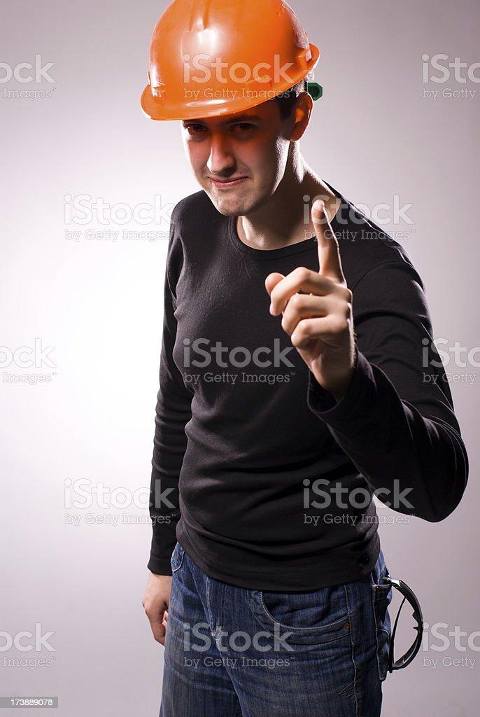 Engineer in helmet royalty-free stock photo