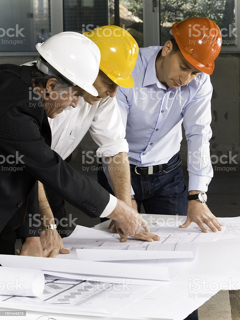 Engineer inspects a construction site royalty-free stock photo