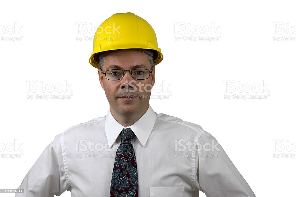 Engineer Isolated on White Background royalty-free stock photo