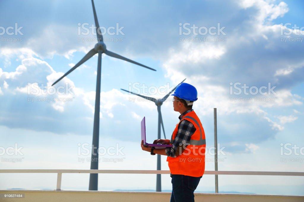 Ingenieur der Windkraftanlage – Foto