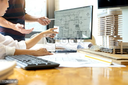 istock engineer or architectural project, 1126038187