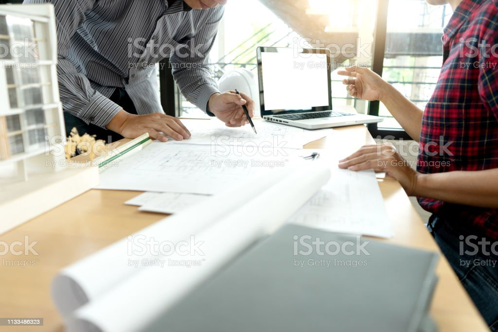 engineer or architectural project, two engineering or architect...