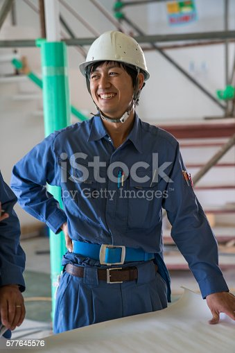 1054724700istockphoto Engineer or inspector at building construction site talking on smartphone 577645576