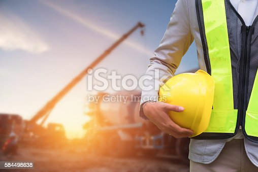 istock Engineer or Safety officer 584498638