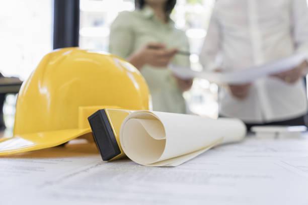 Ingenieur Menschen treffen, arbeiten im Büro für die Erörterung, engineering-Konzept, Architektur-Konzept – Foto