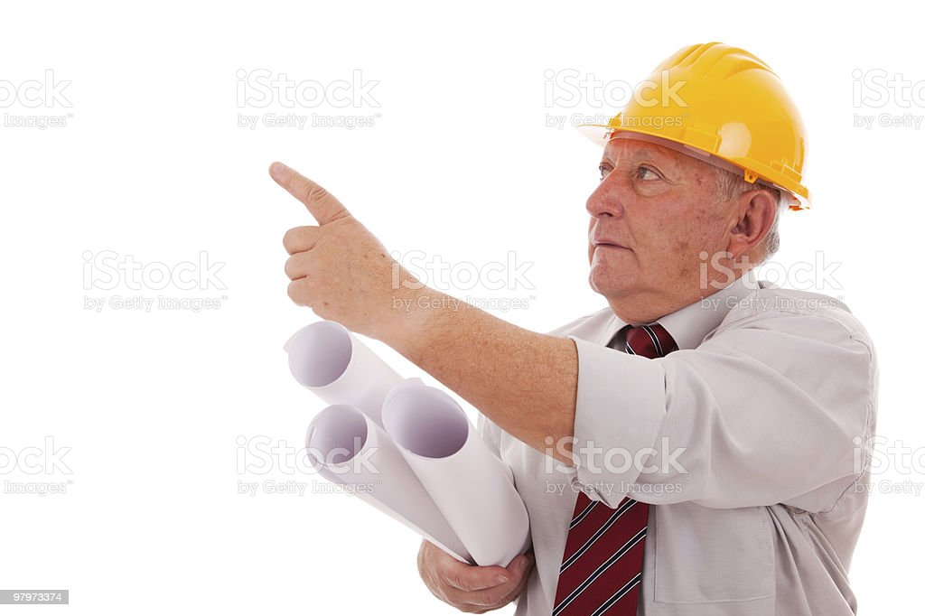 Engineer pointing royalty-free stock photo