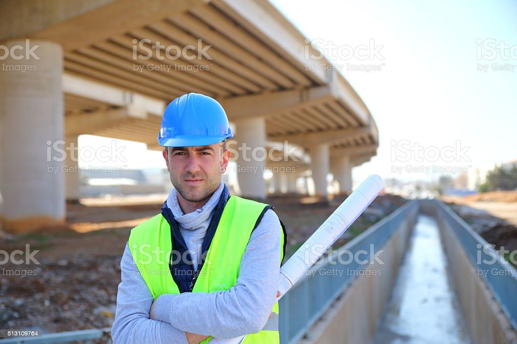 Engineer portrait stock photo