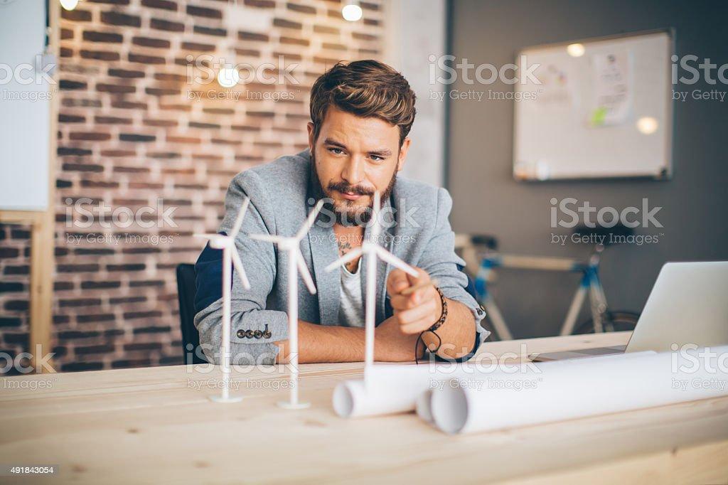 Ingenieur festhängen. Lizenzfreies stock-foto