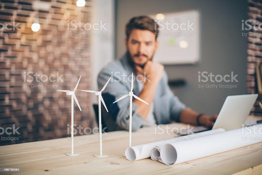 Engineer projecting. stock photo