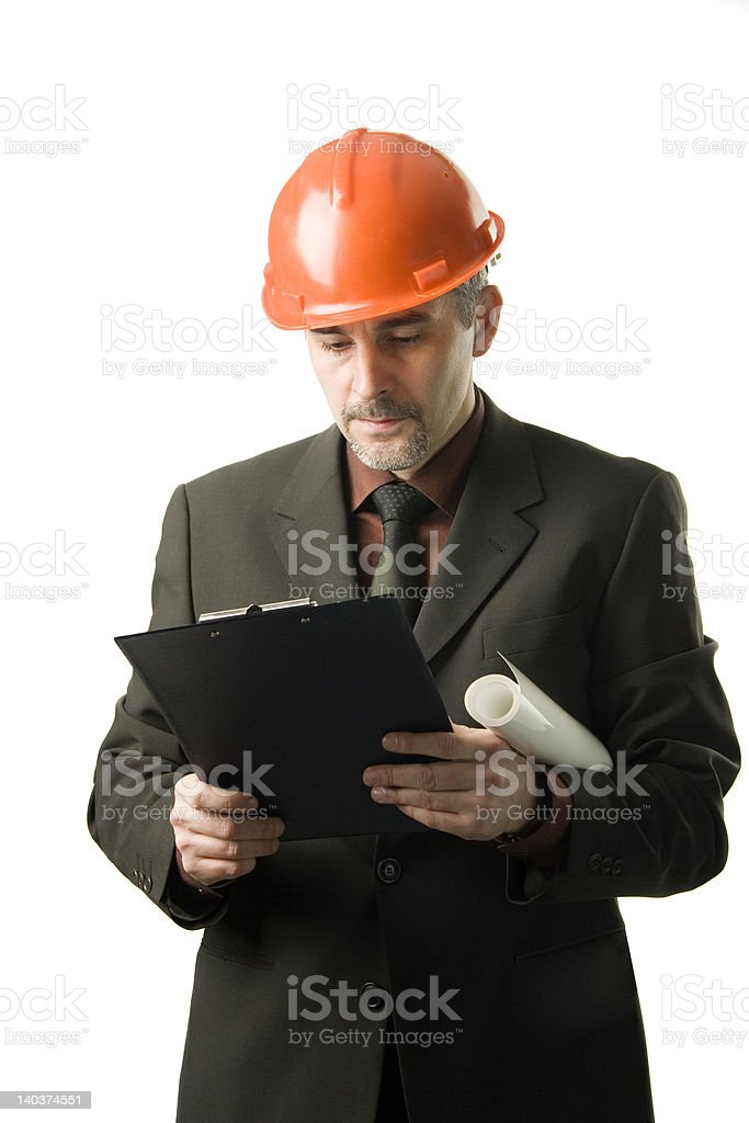 Engineer reading royalty-free stock photo