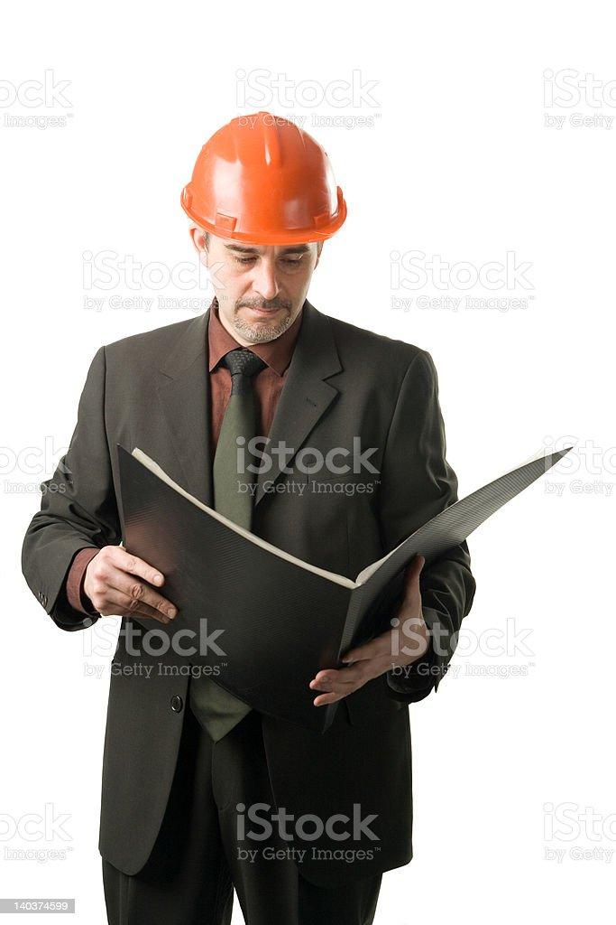 Engineer reading royalty-free stock photo
