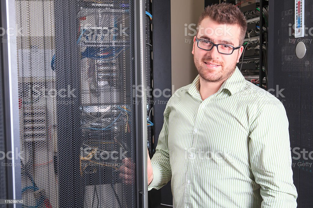 IT Engineer - Server Working royalty-free stock photo