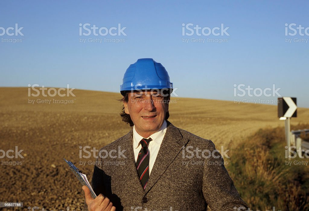 Engineer Smiling.Copy Space royalty-free stock photo
