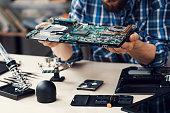 Electronic Technology Repair Computer Occupation Renovation Fix Concept