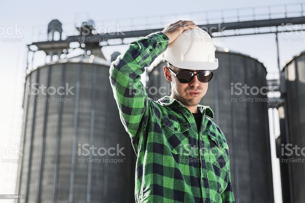 Engineer thinking and looking for solution royalty-free stock photo