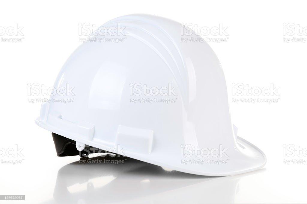 Engineer White Helmet stock photo