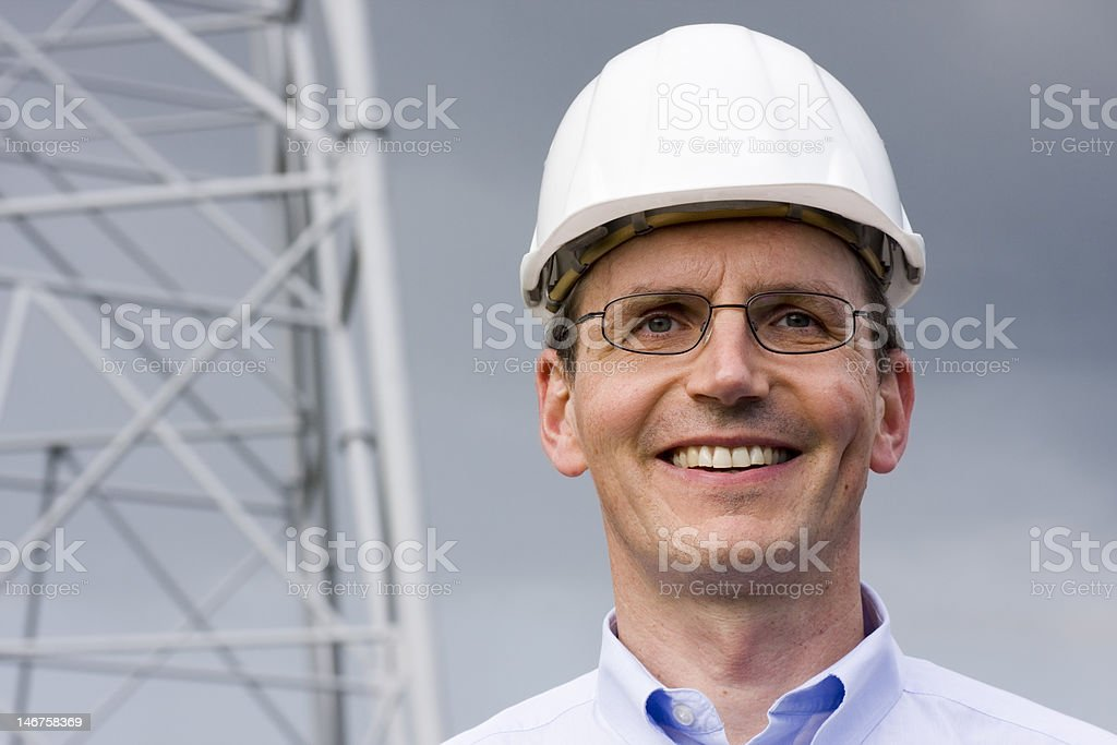 Engineer with hardhat royalty-free stock photo