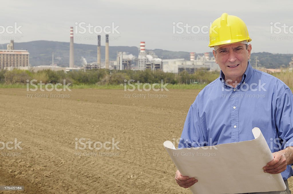 Engineer with Project stock photo