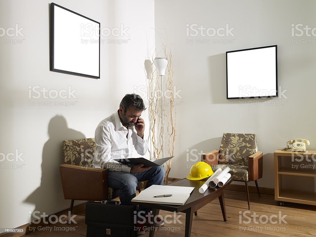 Engineer working royalty-free stock photo