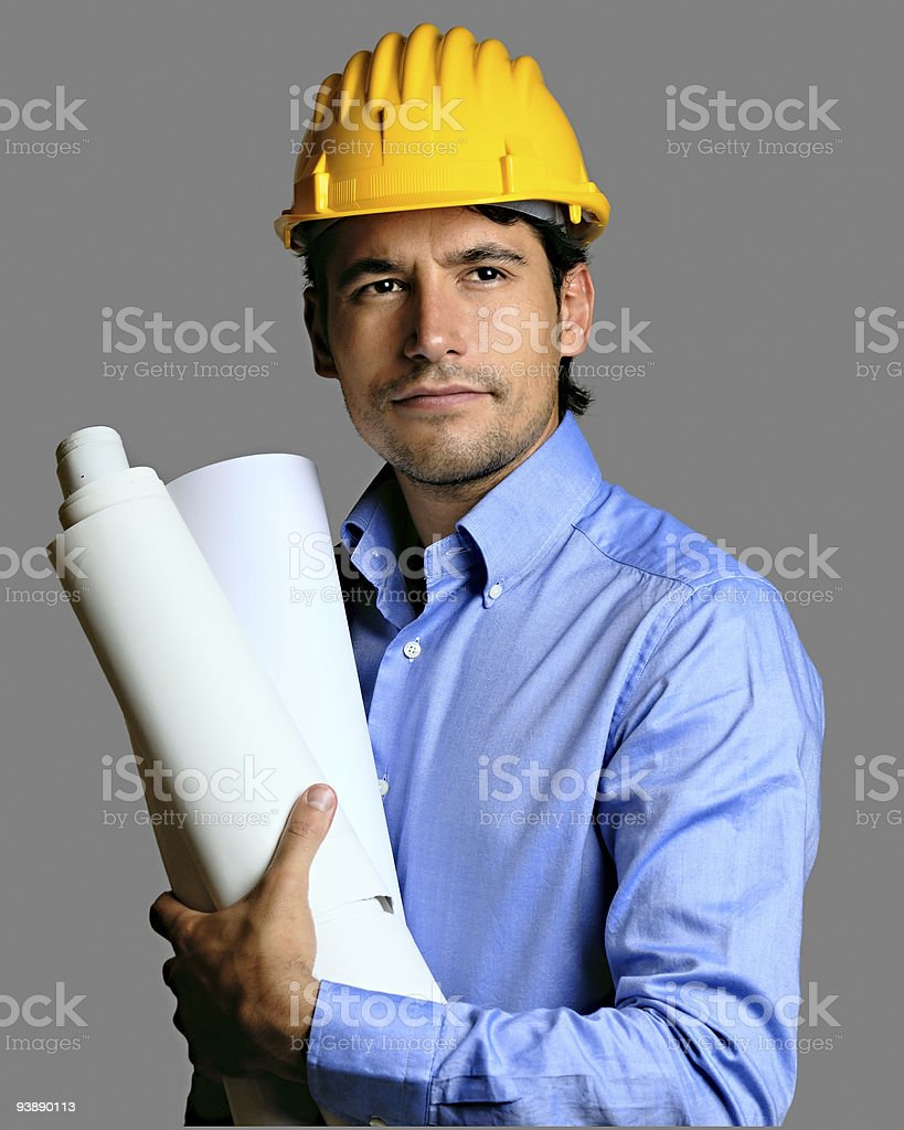 Engineer Working royalty-free stock photo