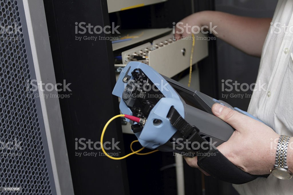 Engineer works on site stock photo