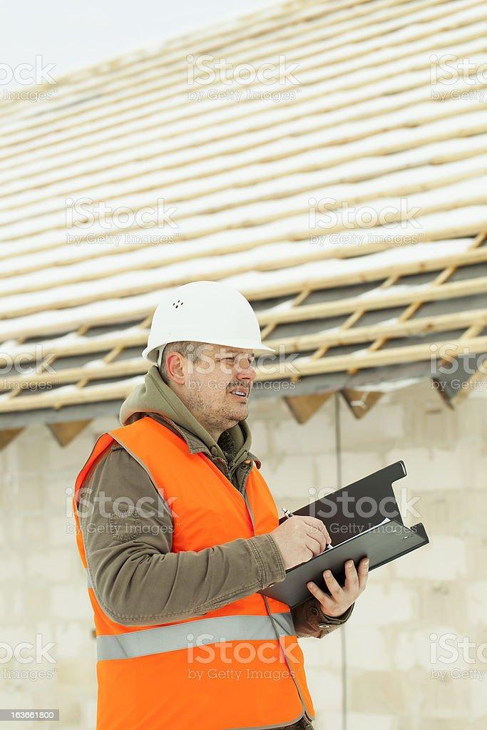 Engineer writing royalty-free stock photo