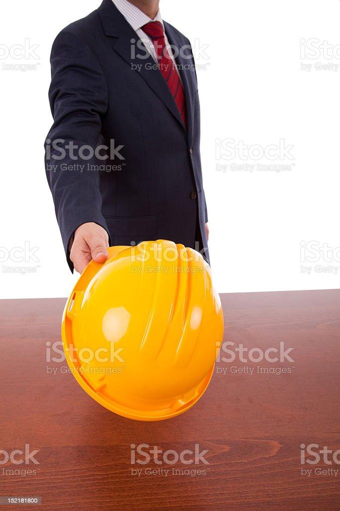 engineer yellow helmet royalty-free stock photo