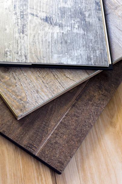 Engineered Hardwood Flooring Plank stock photo