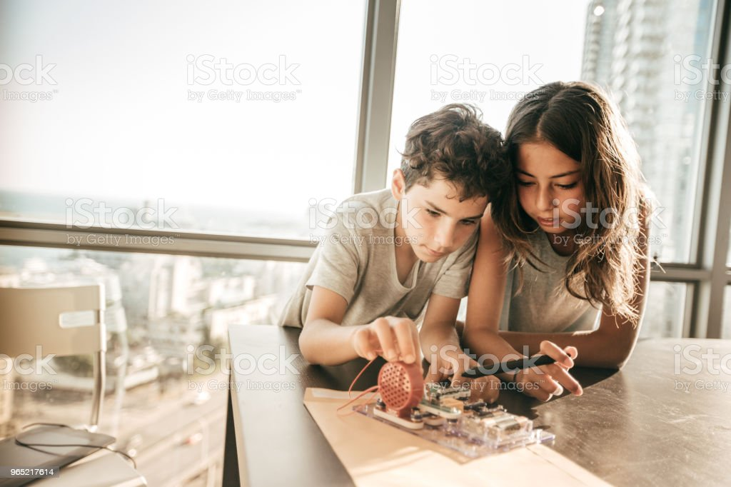 Engineering activities for kids royalty-free stock photo