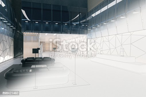 istock Engineering and architecture concept 898421462